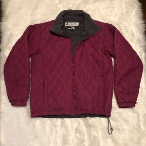 Columbia purple quilted jacket